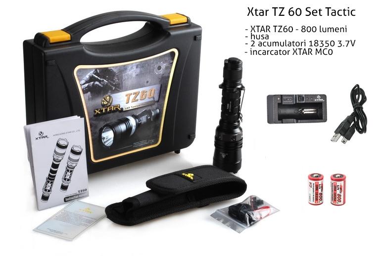 XTAR TZ60 XM-L U2 Set Complet