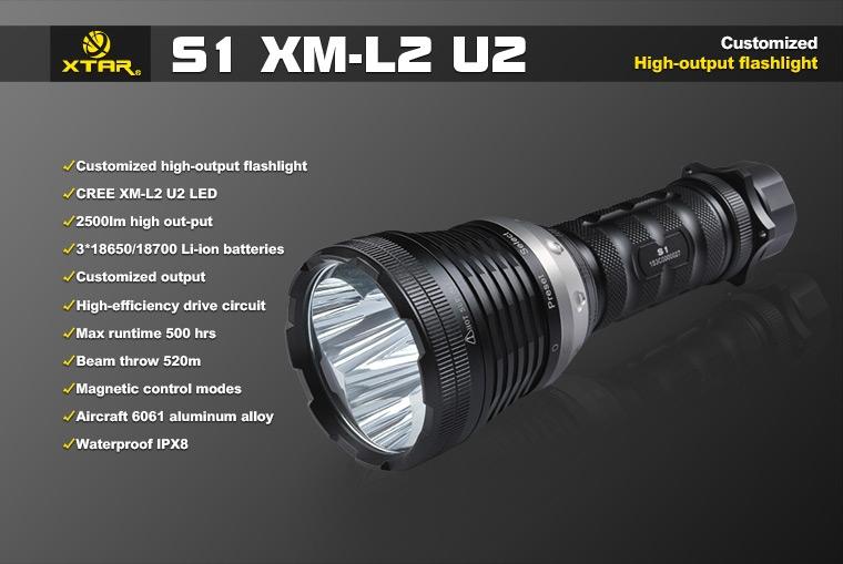 XTAR S1 2500 lumeni - Lanterna LED