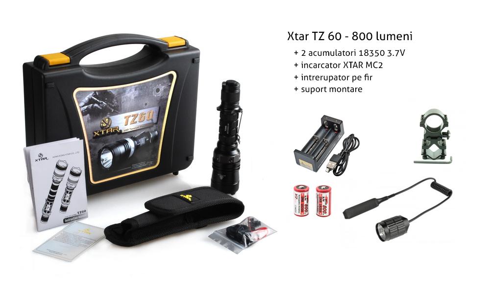 XTAR TZ60 XM-L U2 Set Complet Vanatoare