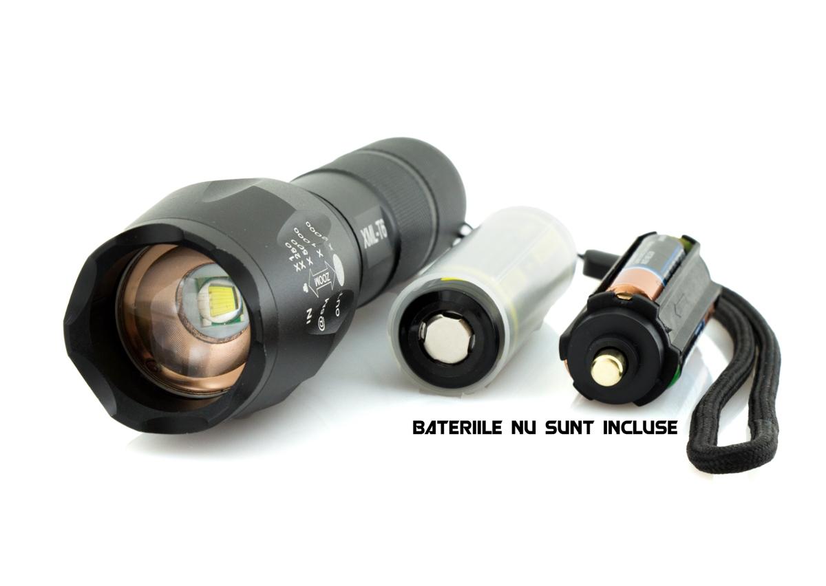Lanterna LED CREE XM-L T6 cu Focalizare Reglabila