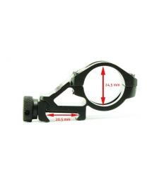 Suport lanterna pentru sina (25 mm diametru lanterna)