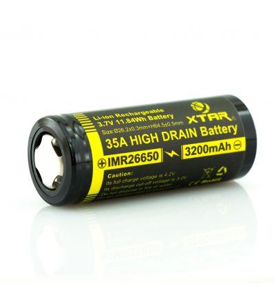 XTAR 22650 3200 mAh Acumulator IMR High Drain 35A