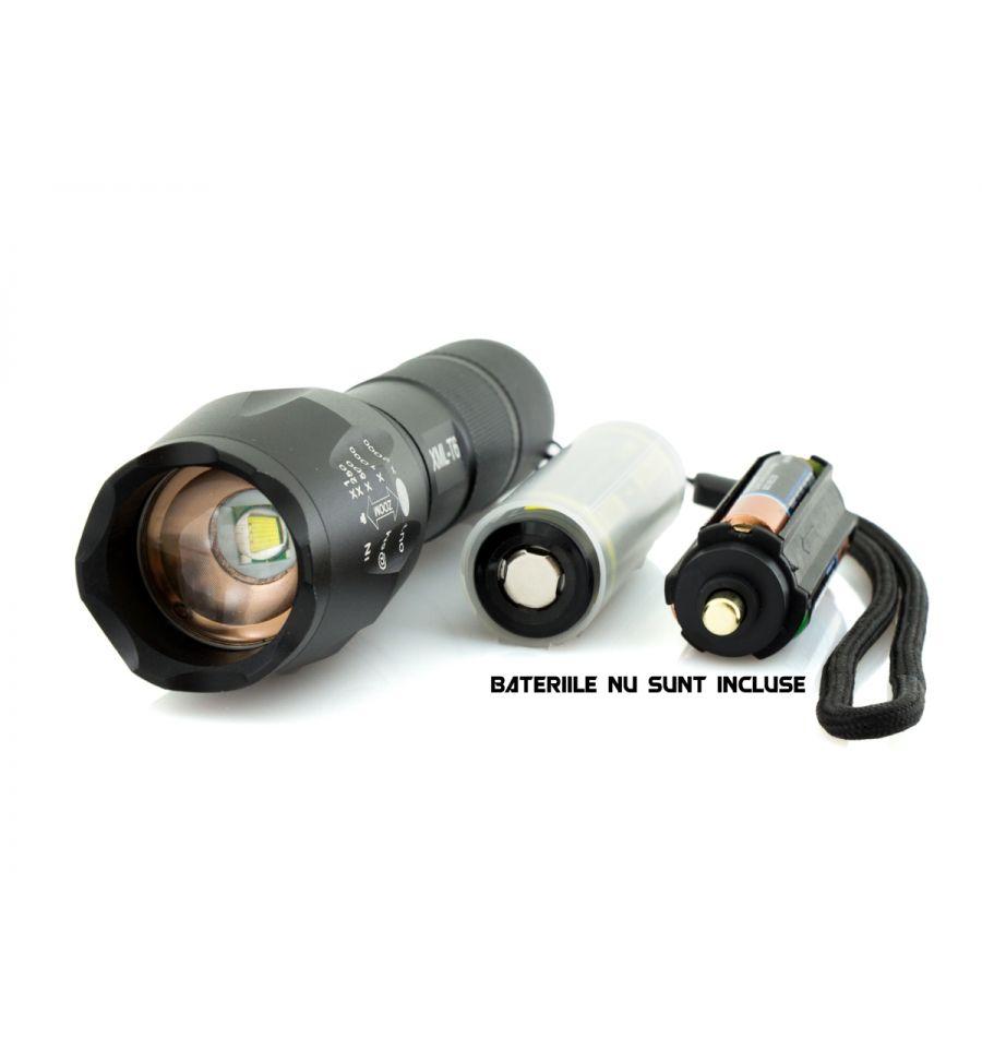 Lanternă LED CREE XM-L T6 cu Focalizare Reglabilă