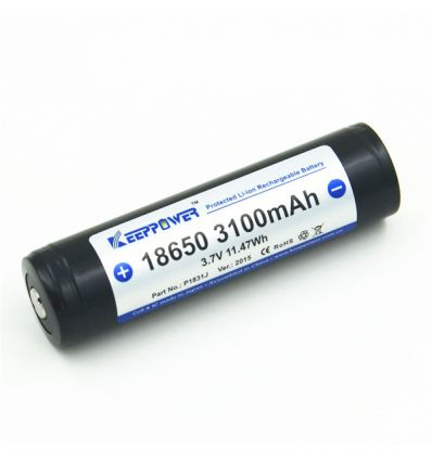 Keeppower 18650 - 3100mAh Acumulator Li-Ion cu Protectie