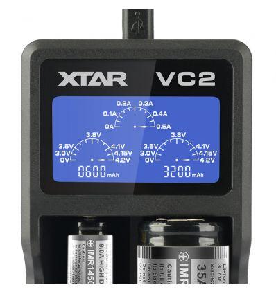 XTAR VC2 Incărcător acumulatori Li-Ion cu măsurarea capacitătii