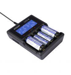 XTAR VC4 Incărcător acumulatori Li-Ion și Ni-Mh cu măsurarea capacitătii